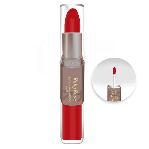 Batom Matte Ruby Rose 211 Batom Duo Matte Hb8606 Ruby Rose